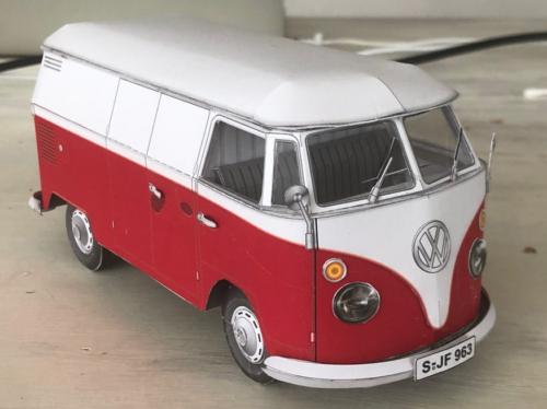 Schreiber Papiermodell, VW T-1